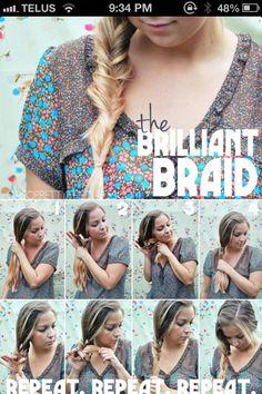 Cute braid for long hair