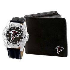 0e2b899b03e Men s Game Time NFL Sports Watch and Wallet Set - Black   Silver - Man Games