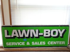 "For Sale Lawn-boy Service & Sales Center 40"" x 15"" Sign Man Cave Garage Bar Den Decor #LawnBoy #ChristmasGift"