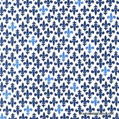 Fleur De Lis Fabric Pattern | Fleur de Lis on natural from Vive La France Collection by Monaluna for ...