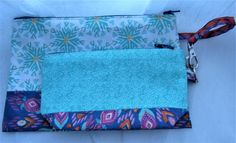 Zip top pouches - large and small - multi colour - bag organisation by Rosiepusscrafts on Etsy