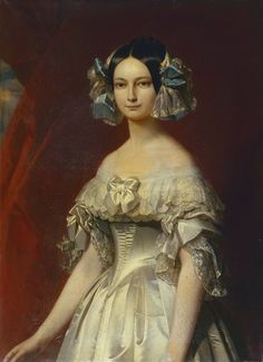 Duchess Helene of Mecklenburg-Schwerin - Wikipedia Franz Xaver Winterhalter, Classic Paintings, Beautiful Paintings, Princess Painting, French Royalty, Effigy, Historical Clothing, Female Portrait, Fashion History
