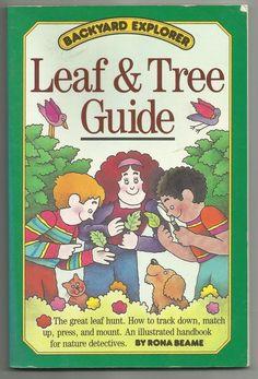 Vintage 1989 Leaf & Tree Guide Paperback Childrens Book Backyard Explorer Nature
