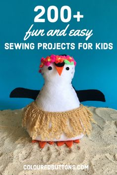 easy hand sewing projects for kids and beginners #colouredbuttons #handsewingprojectsforkids