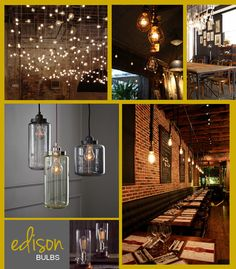 Edison Bulbs! I love these! If only I could string them up all around the yard...