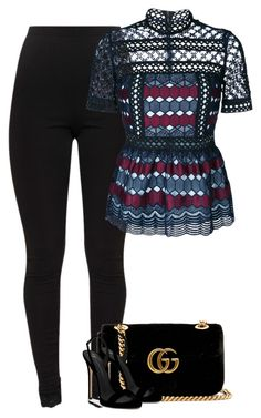 Untitled #10602 by fanny483 on Polyvore featuring polyvore fashion style self-portrait Giuseppe Zanotti Gucci clothing