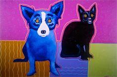 My Friend Felix, 1993, acrylic on canvas, 24x36) - George Rodrigue