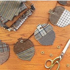 This fall banner by @bugaboocity is so cute! We think our Menswear flannels would be perfect for those little acorns - don't you agree?