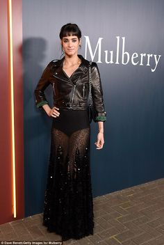 Ooh la la! French actress and musician Sofia Boutella wowed in a sheer lace…