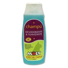 Champú especial gatos - desodorante y suavizante - 250ml Cleaning Supplies, Mustard, Soap, Bottle, Shampoo And Conditioner, Deodorant, Dog Cat, Kittens, Pets