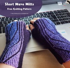 """These gloves are knitted in two parts - first the  """"thumb part"""" is knitted upwards, then stitches are picked up from the side and the rest..."""