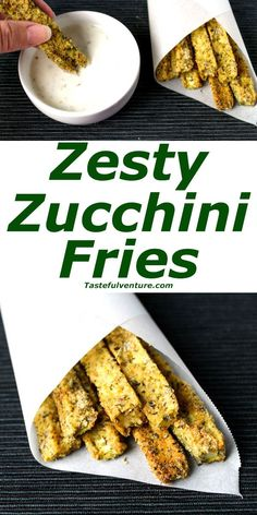 Zesty Zucchini Fries that are Low Carb, Gluten Free, and oh so Yummy! | http://Tastefulventure.com