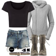 """""""Cora Inspired Outfit with Requested Crop Top"""" by veterization on Polyvore"""