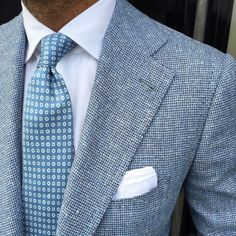 @danielmeul wearing one of our new printed 5-fold silk ties & handrolled Cotton/Linen pocket square… www.violamilano.com