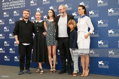 Director Brady Corbet, co-writer Mona Fastvold, actors Stacy Martin, Liam Cunningham, Tom Sweet and Berenice Bejo attend a photocall for 'The Childhood Of A Leader' during the 72nd Venice Film Festival at Palazzo del Casino on September 5, 2015 in Venice, Italy.