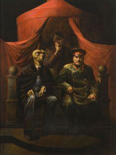 Vitaly Komar Alexandre Melamid - La conférence de Yalta, 1982 huile sur toile 1763