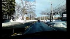 Driving from Andalusia to Sarobia along State Road in Bensalem Township, PA, on the day after Winter Storm Jonas 2016.
