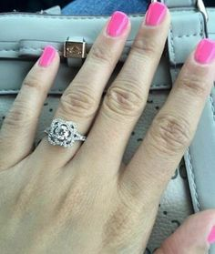 3.10ct Round White Diamond Engagement Ring in Real 14K White Gold Engagement Ring Sizes, Wedding Engagement, Diamond Engagement Rings, Round Cut Diamond Rings, Solitaire Rings, Rings Online, Colored Diamonds, White Gold, Woman