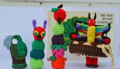 The Very Hungry Caterpillar Finger Puppets Set by PiscesCrochet, $5.95