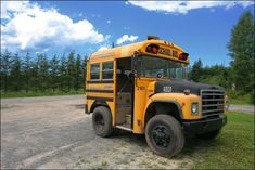 Convert a short bus into a livable/ drivable space that runs on old fast-food grease and travel the country having several adventures along the way.