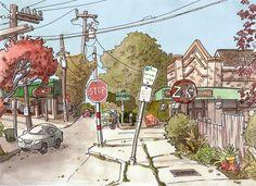 Urban Sketchers Seattle: Steve Reddy - Zoka's in Tangletown near Greenlake.