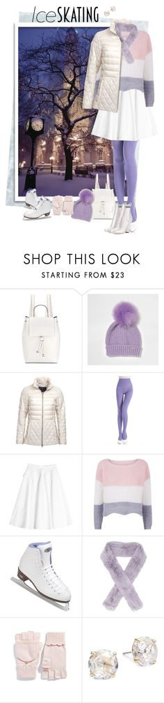 """Ice Skating"" by valeria-meira ❤ liked on Polyvore featuring French Connection, Barbour, N°21, Riedell, Yves Salomon, Kate Spade, Fendi, fendi, FrenchConnection and barbour"