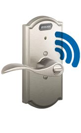 Schlage Lock with Built-in Alarm - perfect for those who have children with special needs or elderly parents who need extra care and attention. Know when they're going in or out - no monthly fees or complicated wiring.