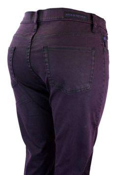 Rock & Republic Jeans Berlin Prince Skinny Dark Eggplant Purple Pants Misses
