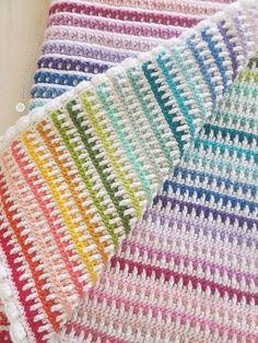 Janus Blanket Crochet pattern by Susan Carlson Crochet For Beginners Blanket, Crochet Patterns For Beginners, Afghan Crochet Patterns, Baby Blanket Crochet, Knitting Patterns, Crochet Blankets, Crochet Afghans, Knitting Ideas, Manta Crochet