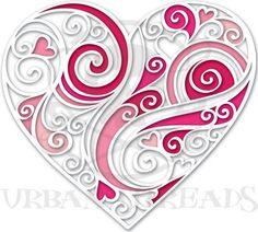 coeur en dentelle de papier