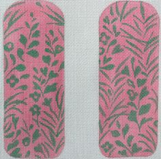 Hawaiian Eyeglass Case - Pink & Green (available in full & half sizes)