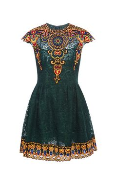 Shop Embroidered Lace Dress by Valentino Now Available on Moda Operandi