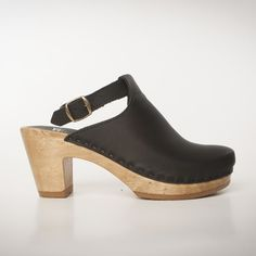 Halter Top Clogs - Black Nu Buc  - Size 39 - 42 Closeout Section for $125.00