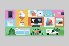 Illustrative detail designed by Lundgren+Lindqvist for Swedish print production and project management company MediaCreator. #Branding #Design #Illustration