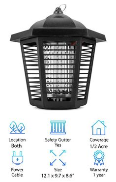 #Features of Sandalwood Electronic Insect Zapper     *Can be used outdoors and indoors.     *Optional lamp holder removable base.     *Resistant to water including rainwater.     *Very durable and can be used for years.     *Ultraviolet light bulb that lasts for a long time.     *Powerful pest, gnat, fly and insect killer for effective control of pests.     *Attractive design and ring hanger that aesthetically enhances your camping site, pool, patio or yard.