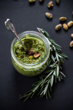 Pesto: Interesting twist for a Pesto Recipe. Uses Spinach, Kale and Chard along with Pistachios & Rosemary : Pesto with Power Greens I Love Food, Good Food, Yummy Food, Tasty, Cooking Recipes, Healthy Recipes, Chutneys, Food For Thought, Food Inspiration