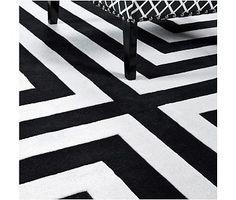 Eichholtz-Teppich Thistle schwarz-weiss