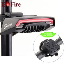 Brand mading Smart Bicycle Light Bike rear tail Led Light Wireless Control  Laser Beam Chargeable Cycling Light Meilan X5
