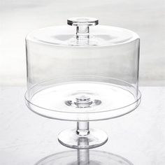 Crate & Barrel Footed Cake Stand with Dome