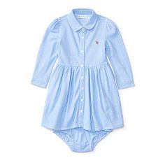 Knit Oxford Dress & Bloomer - Baby Girl Dresses & Rompers…