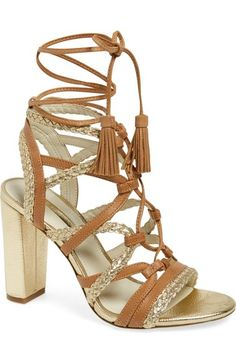 BCBGeneration 'Ronny' Lace-Up Sandal (Women) available at #Nordstrom