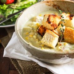 Vegan Rich & Hearty Corn Chowder NOTE: leave out potatoes, try extra corn