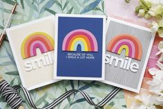 Card Making Tutorials, Card Making Techniques, Video Tutorials, Rainbow Project, Rainbow Card, Mft Stamps, Card Maker, Diy Cards, Homemade Cards