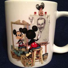 *MICKEY ~ Disney Mickey self portrait mug