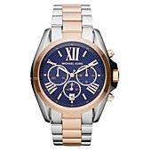 Michael Kors Watch, Womens Chronograph Bradshaw Two Tone Stainless Steel Bracelet 43mm MK5606
