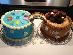 Bridging cake #brownies #daisys #girlscout #bridging Made by : Cakes By Britton