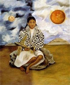 Portrait of Lucha Maria, A Girl from Tehuacan, 1942 by Frida Kahlo. Naïve Art (Primitivism). portrait. Private collection México City