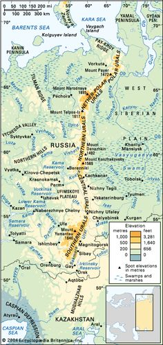 ural mountains separates europe and asia