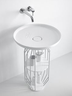 Mobile lavabo in Ceramilux® BOWL | Mobile lavabo - INBANI