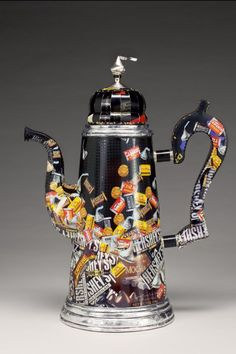 Obverse Obsession Chocolate Pot  uses by HarrieteEstelBerman, $32500.00